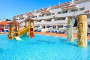 Chatur Playa Real hotel swimming pool with water slides