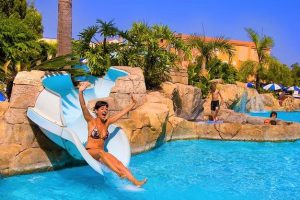 Blue Sea Costa Jardin & Spa swimming pool with a slide