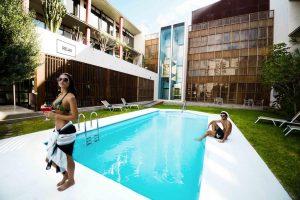 Hotel Escuela Santa Cruz swimming pool